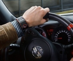 Nissan's futuristic smartwatch links car's machinery and driver's biology | Device | Scoop.it