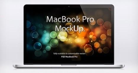 Vektörel Macbook Pro Mockup | Vektorel cizimler | Scoop.it