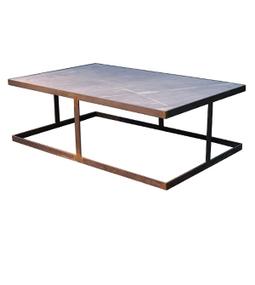 Mesa de centro hierro y madera - Mesas de marmol y cristal ...