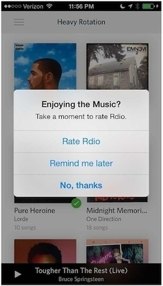 """Does iOS have a problem with """"Rate this App!"""" notifications? 