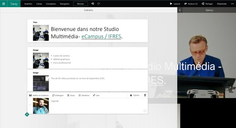 Créer avec SWAY - Bienvenue dans notre Studio Multimédia - eCampus / IFRES. | eLearning en Belgique | Scoop.it