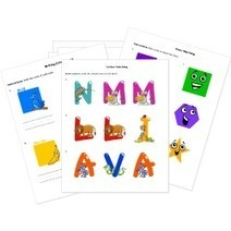 Free Early Education Printables - Coloring Pages, Alphabet, Colors, and Basic Shapes   Education Articles and Resources   Scoop.it