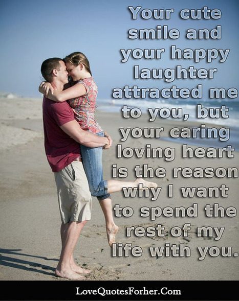 Your cute smile and your happy laughte | Love Letter For Her | Scoop.it