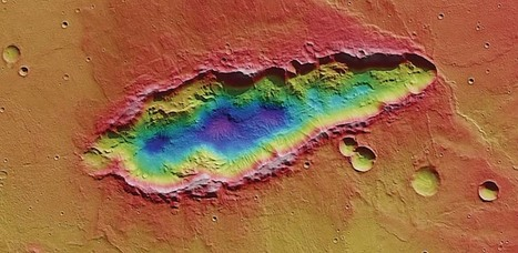 """Image of the Day: """"Mars Ripped!"""" --A Multiple Impact Crater 78 Kilometers Long 