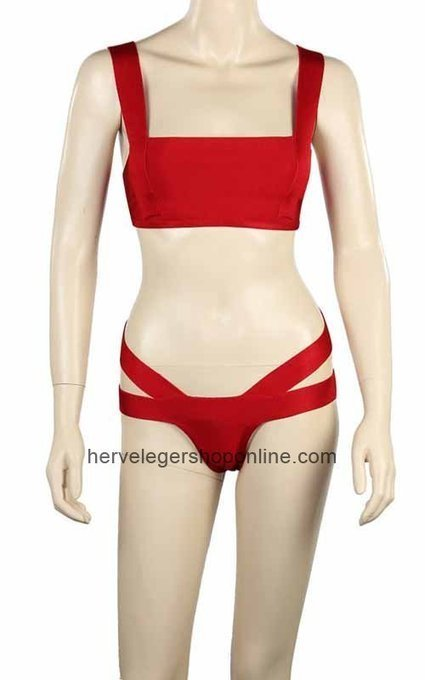 Buy Lucie Bandage Swimwear Red Two Piece Herve Leger [HLS0002021] - $101.00 : Herve Leger Bandage Dress | Cheap BCBG Dresses Wholesale | prom dress | Scoop.it