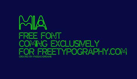 Free Font: MIA › #FreeTypography | webmarketing | Scoop.it
