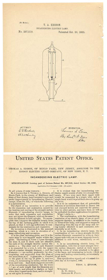 For Edison's birthday today, his original patent... | Technology for productivity | Scoop.it