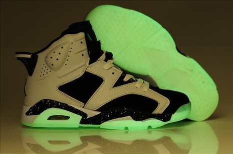 Glow In The Dark Air Jordan 6 White Black Shoes For Sale,Best Price! | air yeezy shoes for sale | Scoop.it