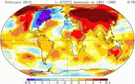 Accelerating Global Warming? NASA Shows February of 2015 was Second Hottest on Record | GarryRogers Biosphere News | Scoop.it