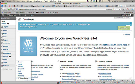 HOWTO: Issue #openbadges in 5 steps using WordPress + WPBadger | Doug Belshaw's blog | eLearning tools | Scoop.it