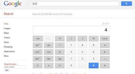 Google refuerza su calculadora online con la incorporación de 34 botones.-   MATEmatikaSI   Scoop.it