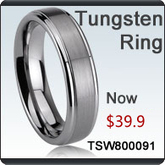 Tungsten Ring with CZ Stone | Grooved Ceramic Rings | Scoop.it