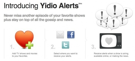 Yidio launches alerts, telling you when shows come online | TV Everywhere | Scoop.it