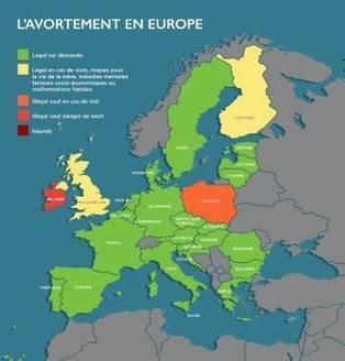 Droits des femmes: la situation en Europe concernant l'avortement (carte) | EuroMed égalité hommes-femmes | Scoop.it