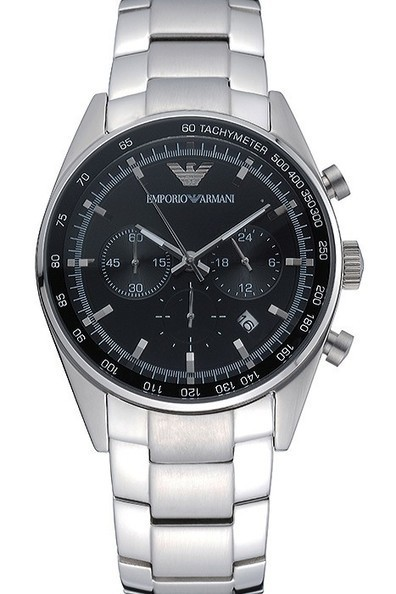 Replica Emporio Armani Sportivo Chronograph Black Dial Stainless Steel Bracelet | Men's & Women's Replica Watches Collection Online | Scoop.it