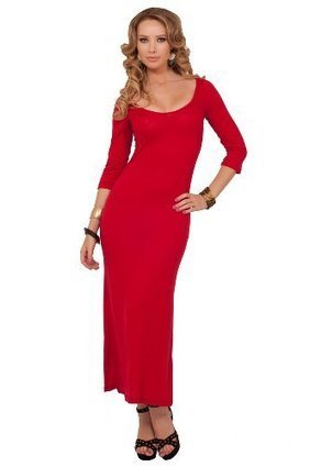 3/4 Sleeve Plain Fitted Scoop Neck Comfortable Stretchy Summer Maxi Long Dress | Summer Dresses | Scoop.it