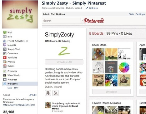 How to (easily) add a Pinterest tab to your Facebook Page – Simply Zesty - Simply Zesty | Public Relations & Social Media Insight | Scoop.it