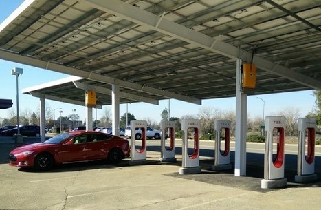 Tesla's First Solar-Powered Supercharger-Store-Service Center Is Almost Ready | Electric Cars in the UK | Scoop.it