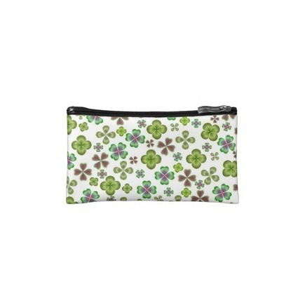 Luck of the Irish Shamrock Clover Bagettes Bag Cosmetic Bag from Zazzle.com | Messenger Bags, Purses & Totes | Scoop.it