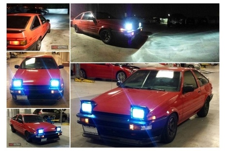 Initial D Toyota Corolla AE86 HID Installation | HIDeXtra Blog | hid | Scoop.it