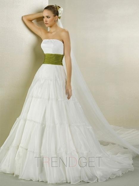 Vintage A-line Princess Strapless Floor-length Wedding Dresses $191.99 - Trendsget.com   Wedding   Scoop.it