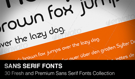 30 Fresh and Premium Sans Serif Fonts Collection of 2013 | Daily Design Notes | Scoop.it