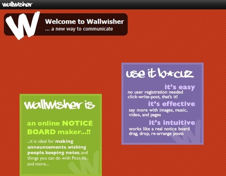 Wallwisher.com :: Words that stick | Technology in Education | Scoop.it