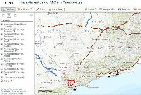 Mapa dos Investimentos do PAC no Setor de Transportes | Innovation and GIS | Scoop.it