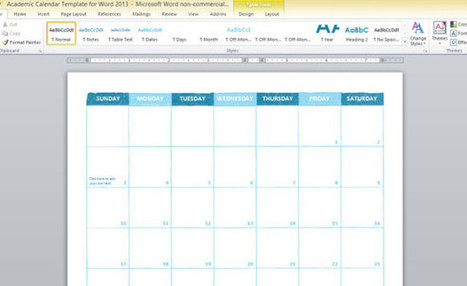 Free Academic Calendar Template For Word 2013 | sports News | Scoop.it