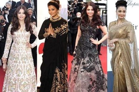 Fashion watch: Aishwarya Rai's red carpet appearances at Cannes 2013 - IBNLive | Designer Sarees Collections | Scoop.it