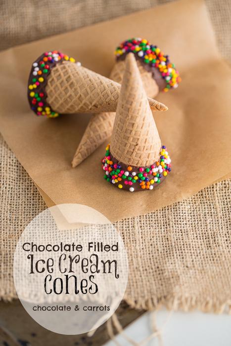 Chocolate Filled Ice Cream Cones | Intentando cocinar | Scoop.it