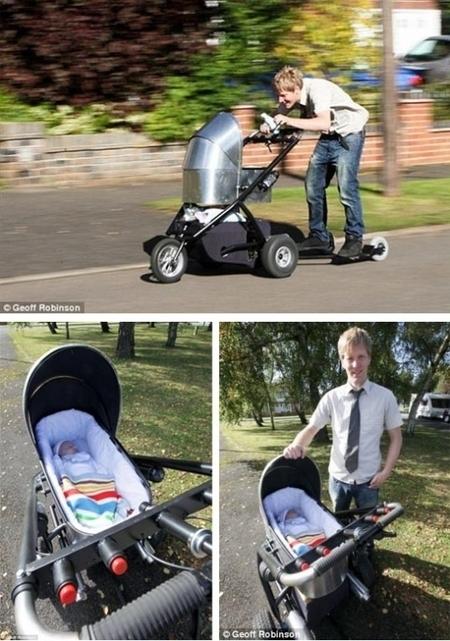 Insolite : un père fabrique une poussette motorisée ! - My Babymoov - Accessoires et matériel de puériculture bébé | Matériel et équipement puériculture bébé, Babymoov | Autour de la puériculture, des parents et leurs bébés | Scoop.it