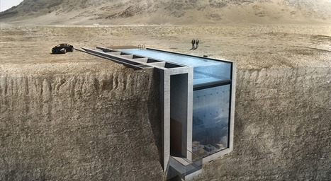This 'Casa Brutale' project, literally nestled in cliff face, is pretty amazing | Innovative & Sustainable Building | Scoop.it