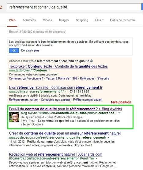 Faut-il du contenu de qualité pour le référencement ? > Blog AxeNet   webmarketing   Scoop.it