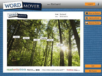 Free Technology for Teachers: Word Mover Helps Students Start Poems | Subject specific links for using IT in the MDHS Classroom | Scoop.it