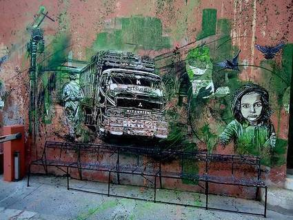 Street art by C215 (3) | Pictures, art, graffiti, fun, zombies, funny ads, demotivationals, break up survival | Art | Scoop.it