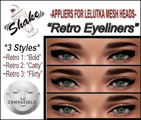 Shake N'Pop: **Appliers For LeLutka Mesh Heads** | SL Bits & Pieces | Scoop.it