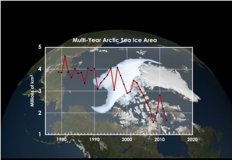 Science Graphic of the Week: Perrenial Arctic Sea Ice Continues to Shrink | Amazing Science | Scoop.it