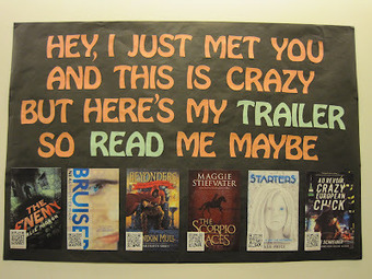 Teen Scene: *NEW* Book Trailer Display | Creativity in the School Library | Scoop.it