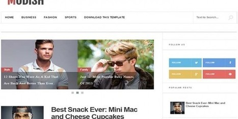 Download Modish Blogger Template Personal - Designsave.com | Blogger themes | Scoop.it