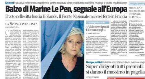 Municipales: la presse internationale retient le succès de Marine Le Pen | Slate | La montée du FN - France | Scoop.it