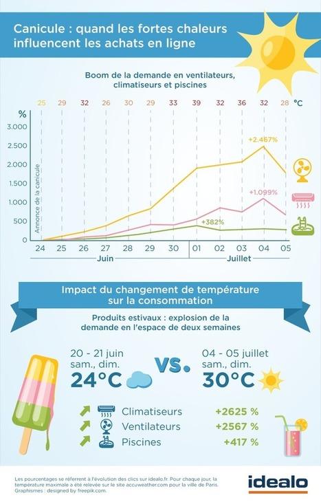 Canicule :  quand les fortes chaleurs influencent les achats en ligne | Colis Privé | Scoop.it
