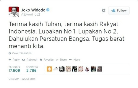 LOOK What President Jokowi's win looked like on Twitter | Digital-News on Scoop.it today | Scoop.it