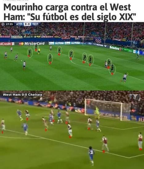 Así planteó Mourinho el partido frente al ATM. | fútbol | Scoop.it
