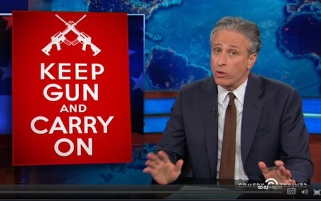 WATCH: Jon Stewart Hilariously Blasts Open Carry Gun Loonies and the NRA | fitness, health,news&music | Scoop.it