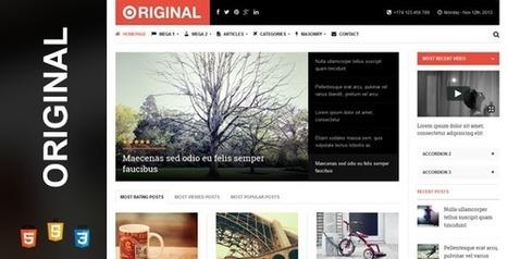 Original Magazine HTML Template Download   Site Templates Download   Scoop.it