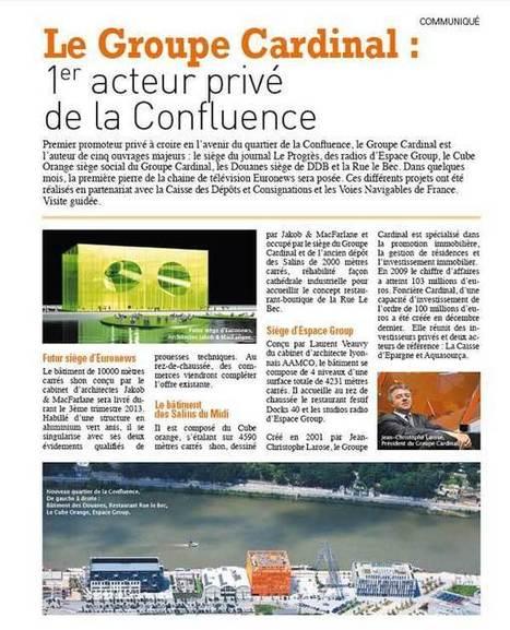 Communiqué - Groupe Cardinal 1er acteur privé de la Confluence   Jean Christophe Larose - Groupe Cardinal - Lyon   Jean Christophe Larose   Scoop.it