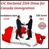 25th Canada Express Entry Draw Indicates Decrease In CRS Points | Immigration & Visa Updates | Scoop.it