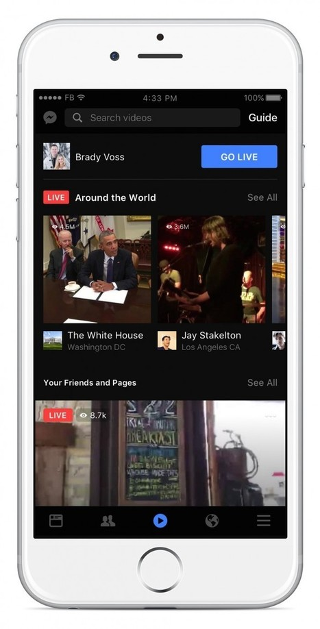 Facebook Live is swallowing the world (or, at least, users' attention), this time with Facebook Live video | Multimedia Journalism | Scoop.it