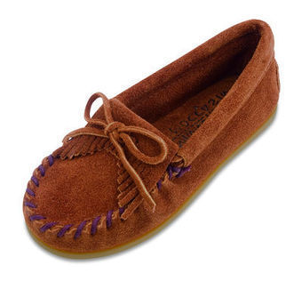 Kilty Suede Moc - Shop Mens, Womens, Childrens Moccasins - The Moccasin Shop | TheMoccasinShop | Scoop.it